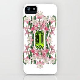 AUGUST/ Birth Stone & Flower iPhone Case