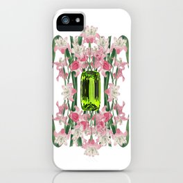AUGUST/ Birth Stone & Flower iPhone Case