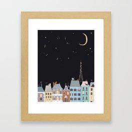 Cats in Paris Framed Art Print