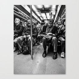 Parisian Commuters Canvas Print