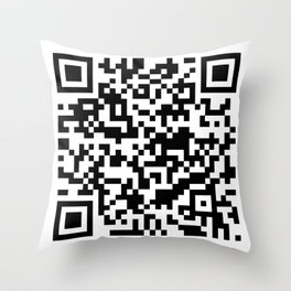 QR Code Pillow Design Throw Pillow