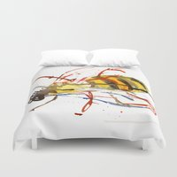 bee Duvet Covers featuring Bee by Lauren Thawley