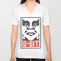 8 bit V-neck T-shirts featuring 8-Bit by tshirtsz