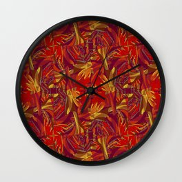 Colorful Abstract Ethnic Style Pattern Wall Clock