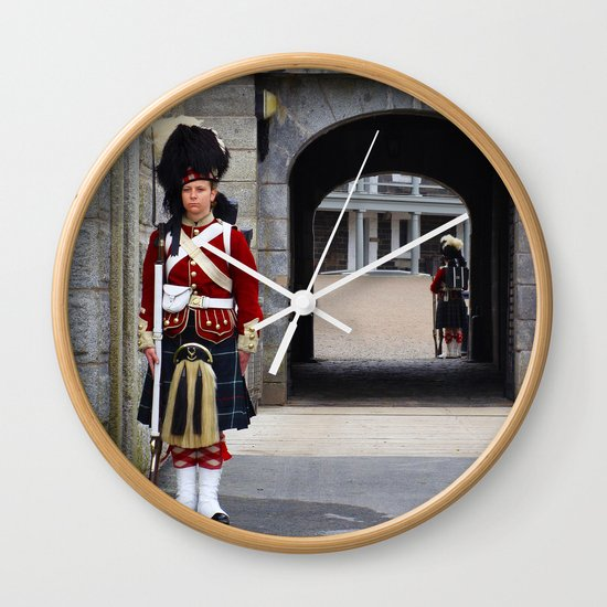 Guard of the Halifax Citadel Wall Clock