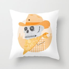 Wanted Dead Throw Pillow