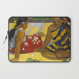 Parau Api / What's news? by Paul Gauguin Laptop Sleeve