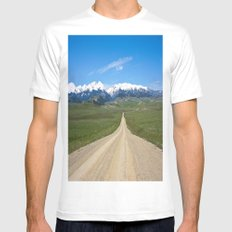 Old Country Road Mens Fitted Tee MEDIUM White