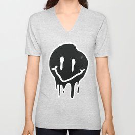 Melting Smiley Unisex V-Neck