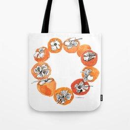 Persimmon Wreath Tote Bag