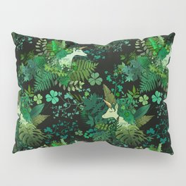 Irish Unicorn in a Garden of Green Pillow Sham