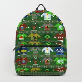 The Ugly 'Ugly Christmas Sweaters' Sweater Design Backpack