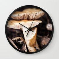 mushroom Wall Clocks featuring Mushroom by Alane Gianetti