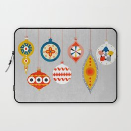 Christmas retro baubles no3 Laptop Sleeve