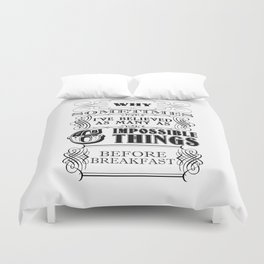 Alice in Wonderland Six Impossible Things Duvet Cover