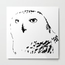 Snowy Owl - Harfang des neiges Metal Print