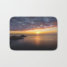 Sunrise at Mumbles Lighthouse Bath Mat