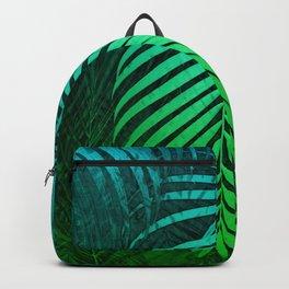 TROPICAL GREEN BLUE LEAVES Backpack