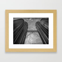 Petronas Towers in Kuala Lumpur, Malaysia Framed Art Print
