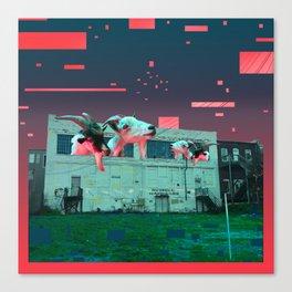 Git Yer Goat (pink) Canvas Print