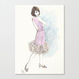 'Abby' Watercolor Fashion Illustration Canvas Print
