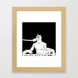 Feel the Music with Stevie Wonder Framed Art Print