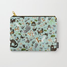 Mustelids from Spain pattern Carry-All Pouch