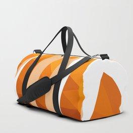 Orange Fruit Low Poly Art Duffle Bag