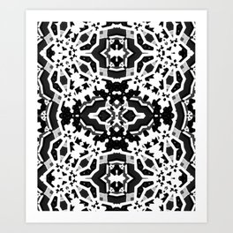 Trouble in the city 3 Black & White Art Print