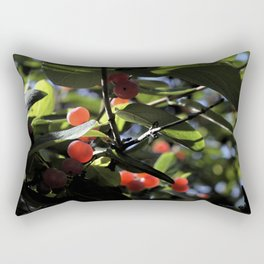 Jane's Garden - Sunkissed Red Berries Rectangular Pillow