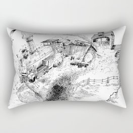 Au-Delà du Terminus / Beyond the End Station Rectangular Pillow