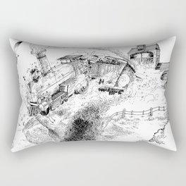 Au-Delà du Terminus / Beyond the End Station Rectangular Pillow