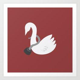 Captain Swan Art Print