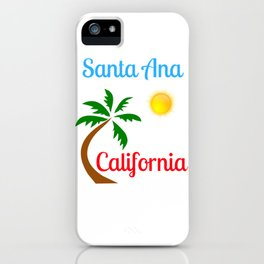 Santa Ana California Palm Tree and Sun iPhone Case