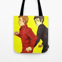 Follow me, Mr. Spock Tote Bag