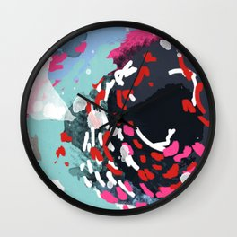 Kimball - Modern abstract painting for home decor in bold and bright colors Wall Clock