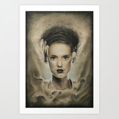 bride of frankenstein Art Print