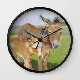 HOLLYHOCK AND PETUNIA Wall Clock