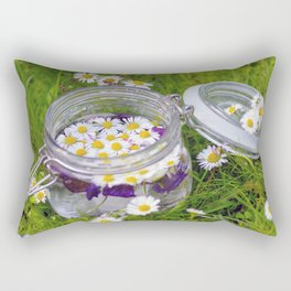 Daisies in glass Rectangular Pillow