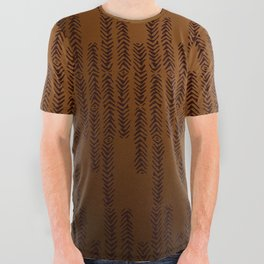 Eye of the Magpie tribal style pattern - bronze All Over Graphic Tee