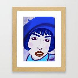Blue Beret Lady #portrait Framed Art Print