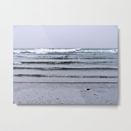 Winter Rippling Waves Metal Print