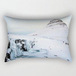 Kirkjufell Waterfall Rectangular Pillow
