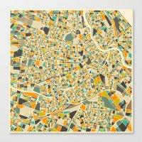 vienna Canvas Prints featuring Vienna Map by Jazzberry Blue