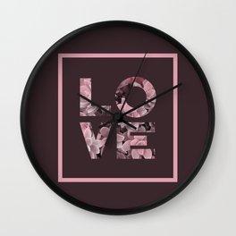 Succulent LOVE #society6 #love #succulent Wall Clock