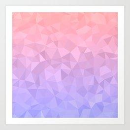 Pastel Ombre Art Print