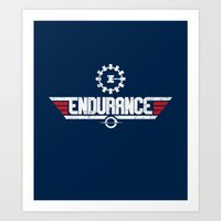 top gun Art Prints featuring Endurance Top Gun by Sébi's Ghosts