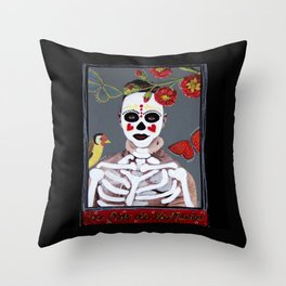 Dori Day of the DEAD Throw Pillow