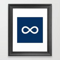 Navy Blue Infinity Framed Art Print
