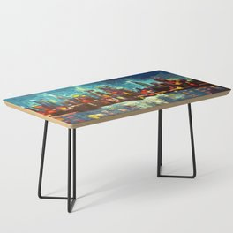Abstract NYC Skyline Coffee Table